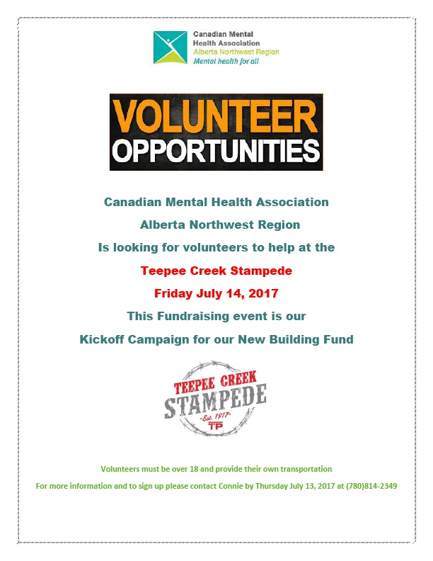 Teepee Creek Volunteer Opportunities