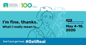 It is Mental Health Week. #getreal